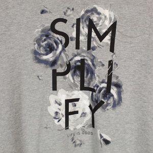 Life Is Good Tops - Life is Good | Simplify tee M NWT
